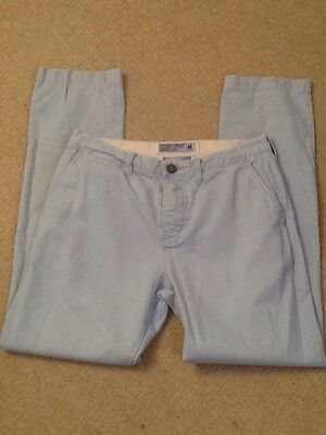 Men's Baby Blue Superdry Chinos Trousers Commodity Edition Size Med