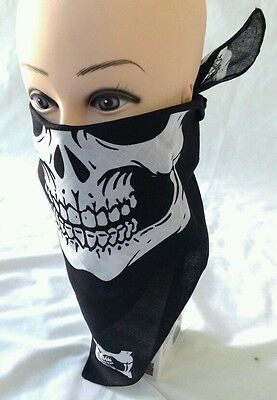 1 pc Skull Jaw Bone Bandana Sport Face Mask Paintball Biker Scarf Head Wrap ��
