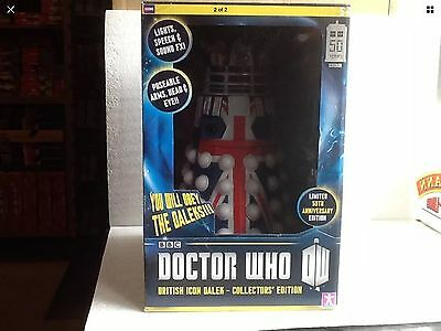 British Icon Dalek. limited edition, 50th anniversary.  Dr Doctor Who