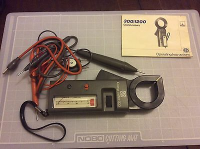 Avo Thorn Emi Clamp Meter 300 Resistance Probe Leads & Case Instructions