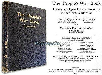 AUTOGRAPHED by WW1 Canadian Fighter Ace Billy Bishop THE PEOPLE'S WAR BOOK 1919