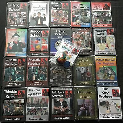 21 Instructional Magic DVDs (with Tricks) - New Close-up, Stage, Parlour, Kids