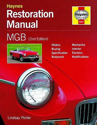 MGB RESTORATION BOOK MGC V8 GT MG B Haynes Owners Manual Handbook