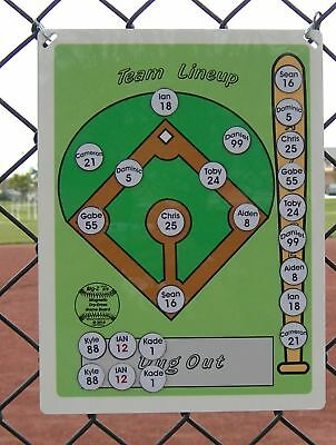 Baseball Softball Coaches Magnetic Dry Erase Lineup Board
