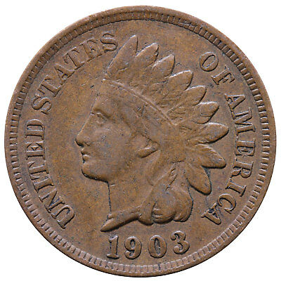 1903 Indian Head Cent Fine Penny FN