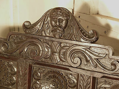 A Victorian Carved Oak Hat Rack, Hall Stand