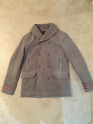 Mens Pretty Green Grey Coat Size M