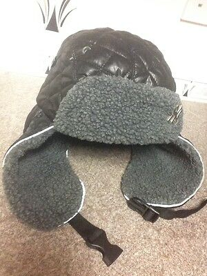 New Era Hunters Hat Size 58cm. Black Quilted