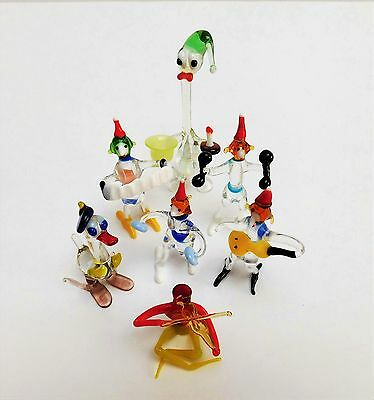An Interesting Group of Vintage Retro Handmade Glass Musicians & Others