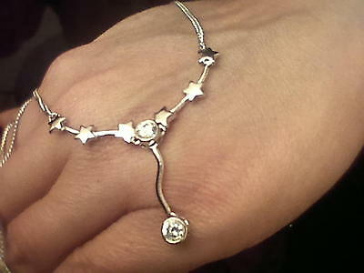 Vintage Necklace Clear Stones Sterling Silver 925 X