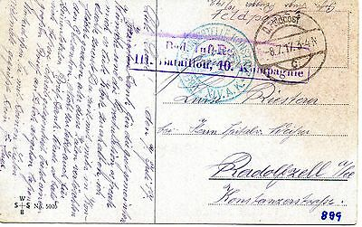 Ww1 Original German Feldpost Postcard