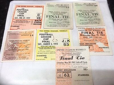 Collection of Wembley Cup Final tickets.