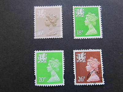4 hard to fined gb Wales regional stamps