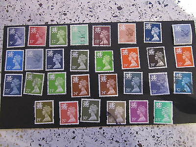 30 GB wales regional Stamps all different FU