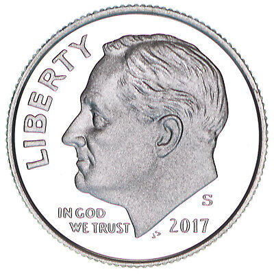 2017 S Roosevelt Dime Gem Deep Cameo CN-Clad Proof US Coin