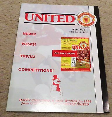 Manchester United Members Magazine November 1992 Man Utd Issue 5