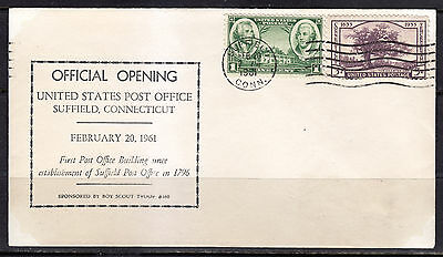 Suffield, Connecticut, Official Opening, 1961, United States Post Office