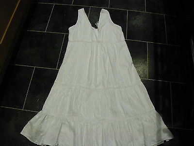 Ladies New Look Bloom Maternity white lined cotton Maternity Dress Size 12