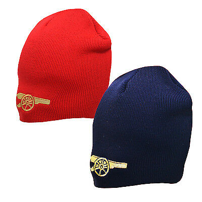 Official ARSENAL FC Football Club - Beanie Knitted/Wooly Hat (Red/Blue) Gunners