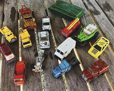Vintage lot matchbox and assorted toy cars
