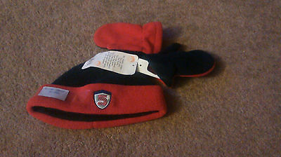 Brand New - Boys Hat And Mitten Set -  Soft And Fluffy - 6-12 Months