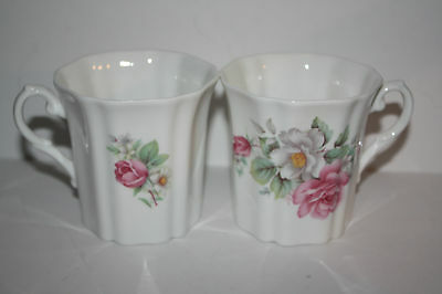 Set of 2 Royal Grafton Fine China made in England Wild Roses