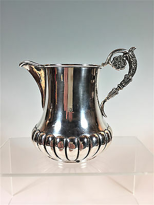 VERY ORNATE STERLING SILVER MEDIUM PITCHER CREAMER UNUSUAL HALLMARKS FRENCH? 7oz