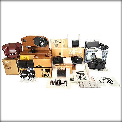 Nikon Mf-4 Bundle, Near Mint, Complete, With Original Matching Boxes