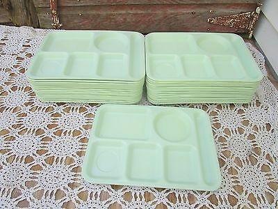 24 Vintage Melmac Cafeteria Lunch Tray Pale Green Arrowhead Cleveland Ohio Retro
