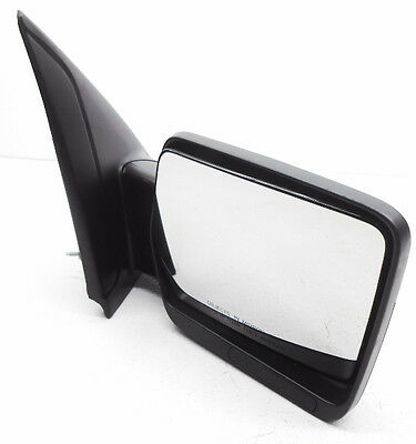 Oem Ford F  Right Side View Mirror Oxford White No Heat Power Fold