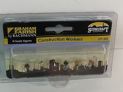 Graham Farish by Bachmann 379-302 N Gauge Construction Worker Figures