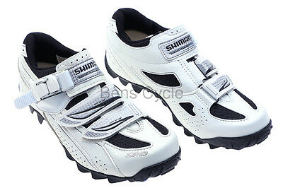 Shimano SH-WM62 Women's MTB Cycling Shoes Wht/Blk Size 43 / 10.4 SPD NEW in box