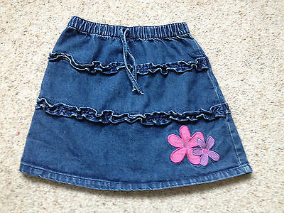 Morris Mouse Baby Girls Denim Skirt  Age 18-23 Months  Great Cond