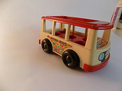 Vintage Toys Fisher Price 1969 Mini-Bus Made in USA Little People?