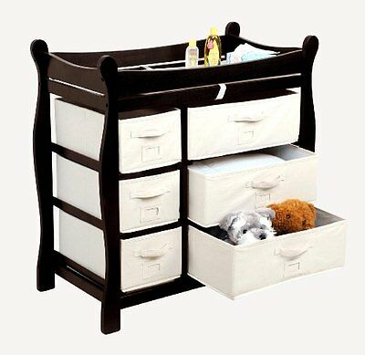 Badger Basket Baby Changing Table with Six Baskets, Espresso...NEW
