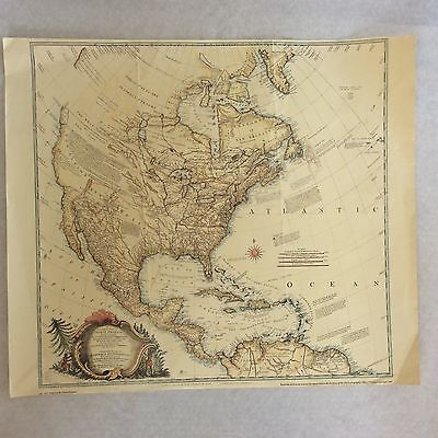Colour Map North America RA Dury reproduced from archives UK Hydrographic Office