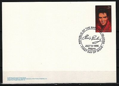 + Marshall Is., Scott cat. 608. Elvis issue as a Postal Card. First day cancel.