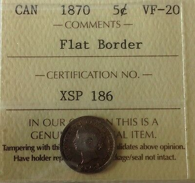 Canada 5 Cents 1870 VF-20