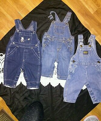 Baby clothes, newborn to 6 months, overalls, brand name