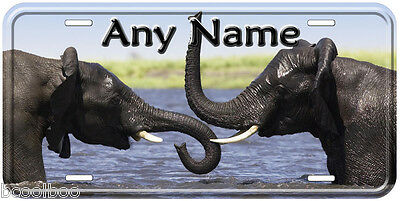 Elephant Pair Any Name Personalized Tag Novelty Car License Plate