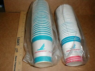 50 Vintage Advertising Piedmont Airlines Up & Coming unused Airplane cups New