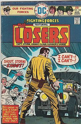 Our Fighting Forces Featuring The Losers # 158 All Done By Jack King Kirby 1975
