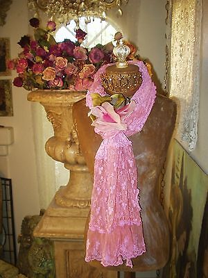 LAST 1 Vintage Style Jeanne d'Arc Living French Rose Scarf/Shawl