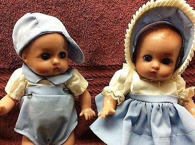 "Adorable Effanbee Set of Patsy Babyette Twin Dolls 8"" 1996 - Reproduced"