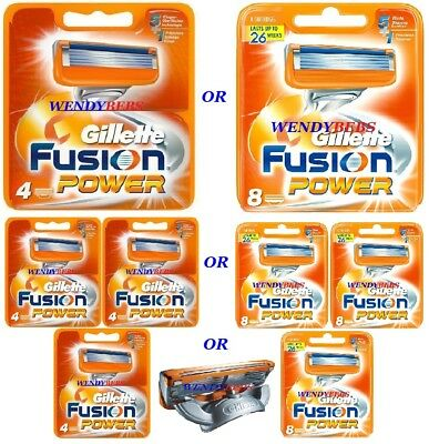 Original Genuine Gillette Fusion 5 Power Shaving Razor Cartridges Blades