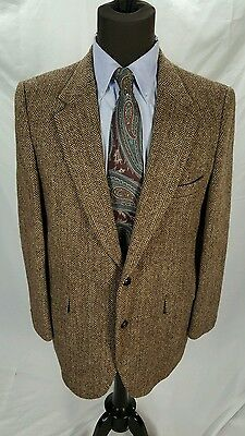 44R 45R Mens Vintage 1950s 50s Harris Tweed Sport Coat Jacket ...