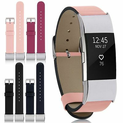 For Fitbit Charge 2 Premium Leather Replacement Wrist Band Watch Strap Bracelet