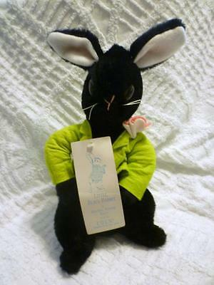 RARE Vintage Eden Beatrix Potter Plush Stuffed LITTLE BLACK RABBIT with TAG 12""