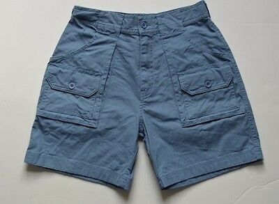 L.L. Bean Cargo Shorts Kid's Unisex Size 14 Blue Outdoor Hiking Camping NWOT