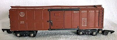American Flyer S Gauge B&O Boxcar 633 Link Coupler Sliding Doors Latches 1948-53